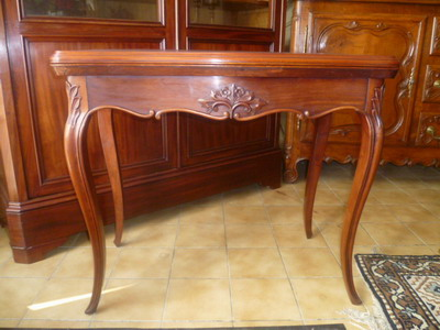 Table console de style louis xv peinte quotes - Table console ancienne ...